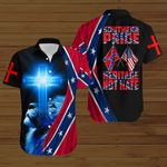 Southern Pride Heritage not hate blue lion Confederate States of America Flag ALL OVER PRINTED SHIRTS DH082103