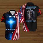 A Child of God Jesus is my savior American Flag knight ALL OVER PRINTED SHIRTS DH082201