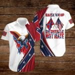 Raise 'em up heritage not hate Confederate States of America Flag ALL OVER PRINTED SHIRTS DH082205