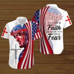 Let your faith be bigger than your fear American Flag Jesus ALL OVER PRINTED SHIRTS DH082203
