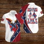 These colors don't run they reload Confederate States of America Flag ALL OVER PRINTED SHIRTS DH082206