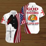 God is great fishing is good and people are crazy ALL OVER PRINTED SHIRTS hoodie 3d 0821905