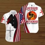 Jesus is my savior Motocross is my therapy ALL OVER PRINTED SHIRTS hoodie 3d 0820673