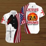 Jesus is my savior Drums are my therapy ALL OVER PRINTED SHIRTS hoodie 3d 0820677