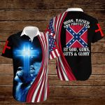 Confederate States of America Flag Born, Raised And Protected by God, Guns, Guts & Glory ALL OVER PRINTED SHIRTS hoodie 3d 0820892