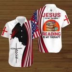 Jesus is my savior Reading is my therapy ALL OVER PRINTED SHIRTS hoodie 3d 0820672