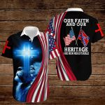 Confederate States of America Flag Our faith and out heritage are non negotiable ALL OVER PRINTED SHIRTS hoodie 3d 0820913