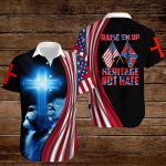 Confederate States of America Flag Raise 'em up heritage not hate ALL OVER PRINTED SHIRTS hoodie 3d 0820901