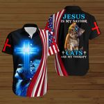 Jesus is my Savior Cats are my therapy ALL OVER PRINTED SHIRTS hoodie 3d 0820666