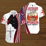 Jesus is my savior Poker is my therapy ALL OVER PRINTED SHIRTS hoodie 3d 0820676