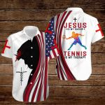 Jesus is my Savior Tennis is my therapy ALL OVER PRINTED SHIRTS hoodie 3d 0817898
