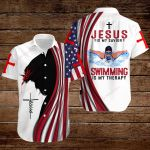 Jesus is my Savior Swimming is my therapy ALL OVER PRINTED SHIRTS hoodie 3d 0817897