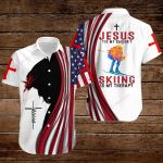 Jesus is my Savior Skiing is my therapy ALL OVER PRINTED SHIRTS hoodie 3d 0817896