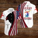 Jesus is my Savior Volleyball is my therapy ALL OVER PRINTED SHIRTS hoodie 3d 0817999