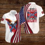 Confederate States of America Flag Never apologize for being right ALL OVER PRINTED SHIRTS hoodie 3d 0815889