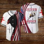 Jesus is my savior Hockey is my therapy ALL OVER PRINTED SHIRTS hoodie 3d 0815894