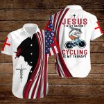 Bike Jesus Is My Savior Cycling is my therapy ALL OVER PRINTED SHIRTS hoodie 3d 0815893