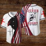 Jesus is my savior Rugby is my therapy ALL OVER PRINTED SHIRTS hoodie 3d 0815895
