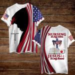 Nurse Nursing in my veins Jesus in my heart ALL OVER PRINTED SHIRTS hoodie 3d 0806667