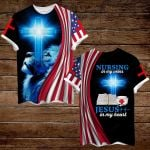 Nurse Nursing in my veins Jesus in my heart ALL OVER PRINTED SHIRTS hoodie 3d 0806666