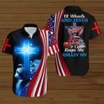 Truck Driver 18 wheels and Jesus keeps me rollin' on ALL OVER PRINTED SHIRTS hoodie 3d 0811890