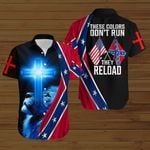 These colors don't run They reload blue lion Confederate States of America Flag ALL OVER PRINTED SHIRTS DH082401