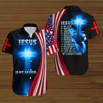 Jesus is my Savior my everything American Flag blue lion ALL OVER PRINTED SHIRTS DH082402