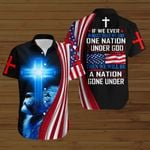 If we ever forget that we are one Nation under God then we will be a Nation gone under American Flag blue lion ALL OVER PRINTED SHIRTS DH082405