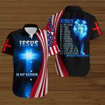 Jesus is my God my Savior my everything American Flag blue lion ALL OVER PRINTED SHIRTS DH082501