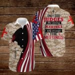 Only God jugdes the enemy Marines only arrange the meetings ALL OVER PRINTED SHIRTS hoodie 3d 0825675
