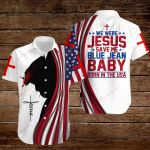 We were Jesus save me blue jean baby born in the USA ALL OVER PRINTED SHIRTS hoodie 3d 0825673
