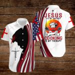 Jesus is my savior Cooking is my therapy ALL OVER PRINTED SHIRTS hoodie 3d 0825676