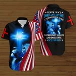 Jesus is my Lord and Savior I feed on God's word To Strengthen my faith And Dominate My flesh American Flag ALL OVER PRINTED SHIRTS DH082603