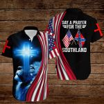 Say a prayer for the Southland Confederate States of America Flag ALL OVER PRINTED SHIRTS DH082609