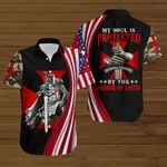 My Soul is protected by the Armor of Faith American Flag knight ALL OVER PRINTED SHIRTS DH082606