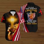 I'm not that perfect Christian I'm the one that knows I need Jesus ALL OVER PRINTED SHIRTS hoodie 3d 0826670