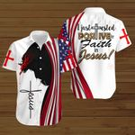 I just tested positive for faith in Jesus American Flag Jesus Christ ALL OVER PRINTED SHIRTS DH082702