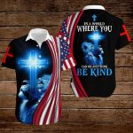 In a world where you can be anything be kind American Flag blue lion Jesus Christ ALL OVER PRINTED SHIRTS DH082901