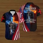 I'm on team Jesus I'm a Christian saved by Grace American Flag fire Knight ALL OVER PRINTED SHIRTS DH082902
