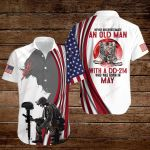 Never underestimate an old man with a DD-214 who was born in May ALL OVER PRINTED SHIRTS hoodie 3d 0828689