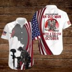 Never underestimate an old man with a DD-214 who was born in October ALL OVER PRINTED SHIRTS hoodie 3d 0828694