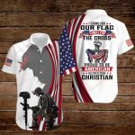 I stand for our flag I kneel for the cross proud to be American Blessed to be Christian ALL OVER PRINTED SHIRTS hoodie 3d 0829666