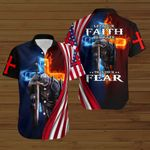 Let your faith be bigger than your fear American Flag fire Knight ALL OVER PRINTED SHIRTS DH083104