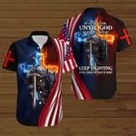 It ain't over until God says it's over American Flag fire Knight ALL OVER PRINTED SHIRTS DH083102