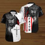 Faith American Flag Jesus Christ ALL OVER PRINTED SHIRTS DH083103