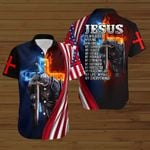 Jesus is my Savior my everything American Flag fire Knight ALL OVER PRINTED SHIRTS DH090101