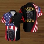 Let your faith be bigger than your fear Jesus Christ American Flag fire Knight ALL OVER PRINTED SHIRTS DH090102