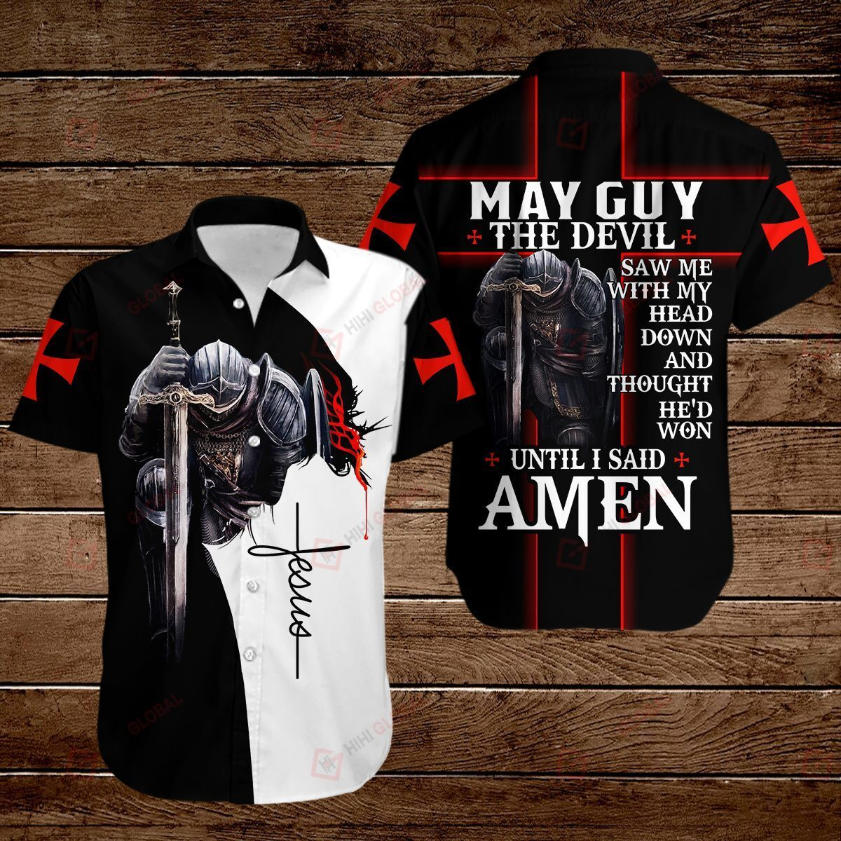 May guy The Devil saw me with my head down and thought he'd won until I said Amen ALL OVER PRINTED SHIRTS hoodie 3d
