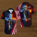 A Child of God a warrior of Christ American Flag fire Knight ALL OVER PRINTED SHIRTS DH090301