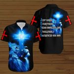 Just when everything seems hopeless God unselfishly sacrificed his son blue lion ALL OVER PRINTED SHIRTS DH090303